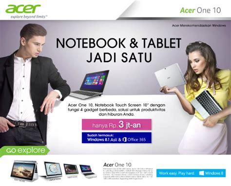 Harga Acer One 10 acer one 10 notebook tablet layar sentuh dengan os