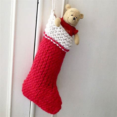 images of knitted christmas stockings christmas stocking knit your own kit by edamay