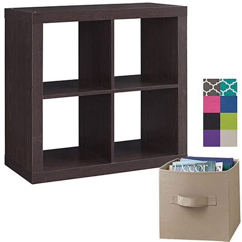 better homes and gardens square 4 cube organizer with 4