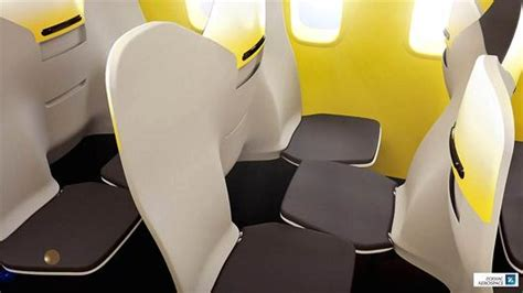 space saving seating arrangement or it check out this new plane seat look
