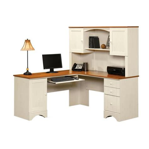 white corner desk with shelves harbor view wooden 66 square corner computer desk with sliding keyboard shelf antiqued white