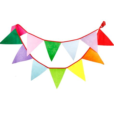 Bunting Flag Banner 12flags 3 1m fabric banners personality wedding bunting