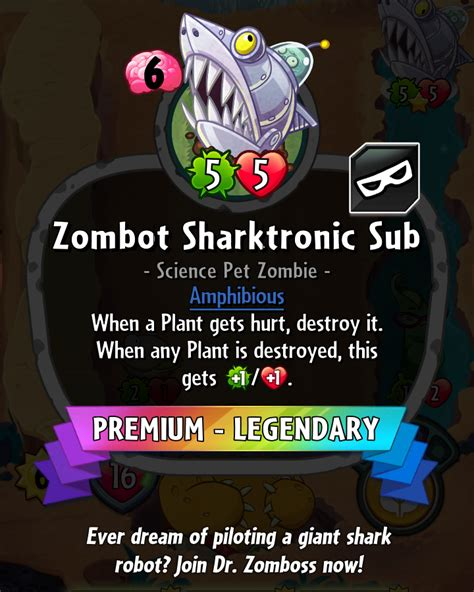 Pvz Heroes Card Template by Image Zombotsharktronicsubhdescription Png Plants Vs