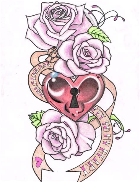 cute heart tattoo designs design girly pretty tattoos