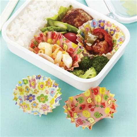 Bento Oval Sekat 4 and oval flower bento lunch box paper cups from japan bento accessories bento boxes shop