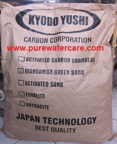 Manganese Greensend Per Zak kemasan manganese greensand 1 sak 20 kg