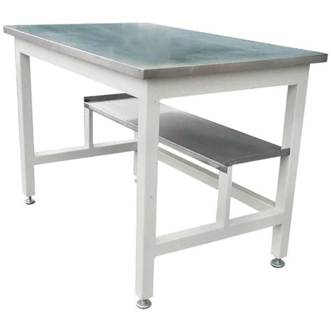 madison park afton industrial desk lab work table desk of stainless steel from science