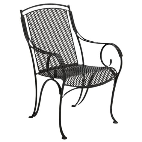 iron patio chairs modesto outdoor patio dining set by woodard outdoor