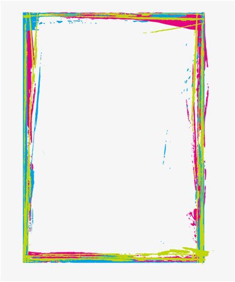 border color color inkjet border color clipart color brush png image