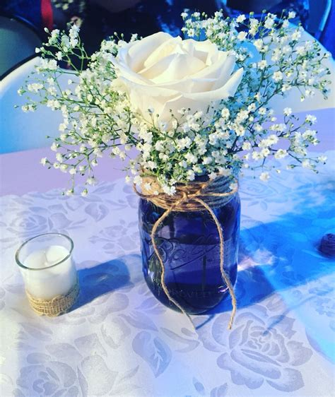 jar centerpieces baby breath in jar baby