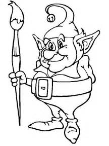 Elf Shelf Coloring Pages Kids Cute Page sketch template