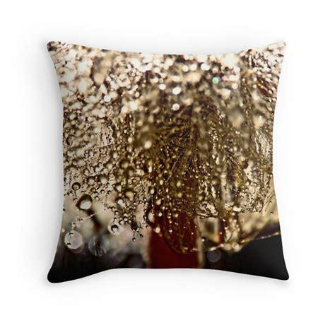 Raindrop Pillow raindrop pillow bronze cushion water drops drop