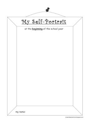 Portrait Template by Self Portrait Template For Preschool Click On The