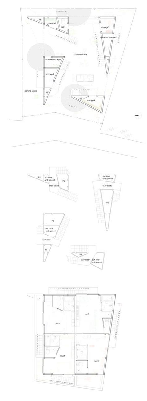 Open Space Floor Plans Yokohama Apartment 4 Triangles As A New Outdoor Space