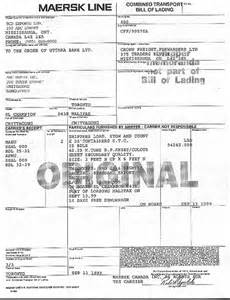 Bill Of Lading Template Canada by 13 Bill Of Lading Templates Excel Pdf Formats