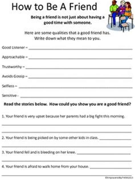 Social Skills Worksheets For Highschool Students by Friends Social Skills Worksheets Dr Who Pearls And Friends