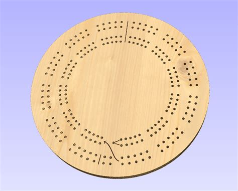 cribbage templates 15 inch 2 track template