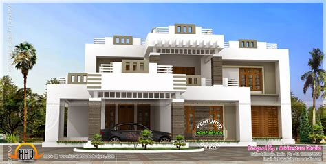 5 bhk contemporary style house exterior home kerala plans