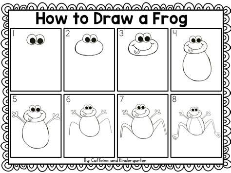 Frog Directed Drawing frog directed drawing caffeineandkindergarten