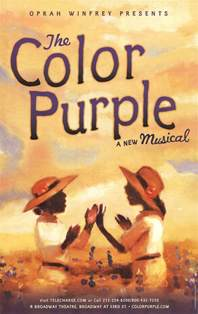 how is the color purple the color purple broadway posters from