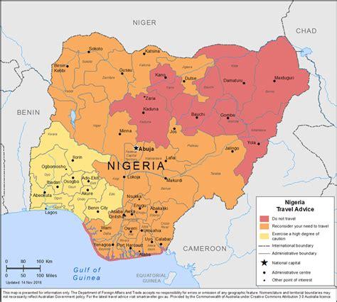 nigéria nigeria voyages cartes