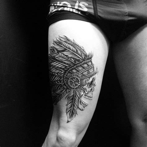 thigh tattoos for guys best 25 thigh ideas on skull