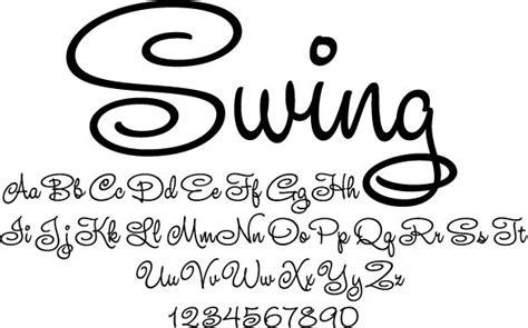 swing font swing font craft ideas pinterest
