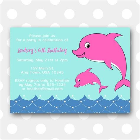 printable birthday cards with dolphins printable dolphin birthday party invitation dolphin