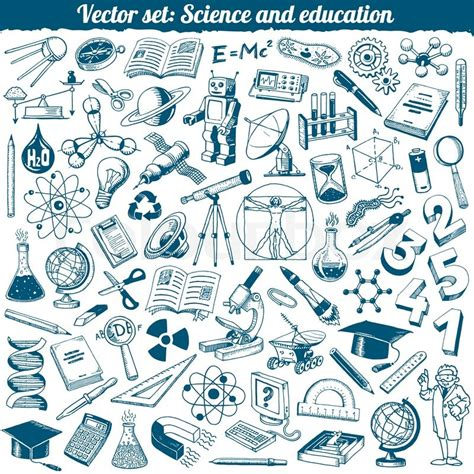 education doodle vector free science and education doodles icons vector set stock