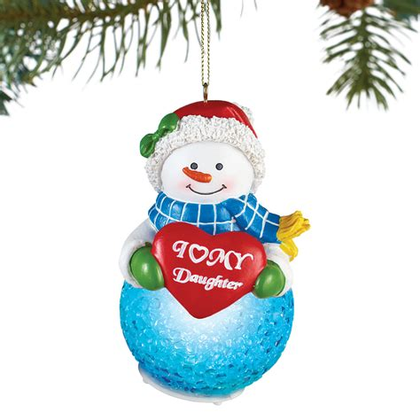 lighted tree ornaments lighted family snowman tree ornament by collections etc