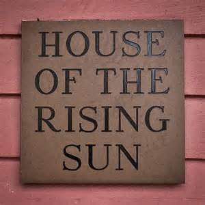 b b sign picture of house of the rising sun bed and