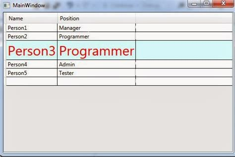 xaml tutorial online wpf tutorial changing datagridrow appearance on mouse events