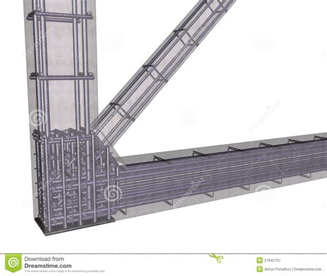 design of rcc frame reinforced concrete frame royalty free stock photography