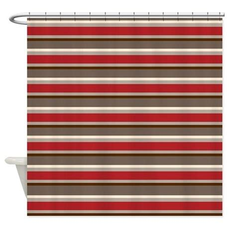 red and white horizontal striped curtains red gray brown horizontal stripes shower curtain by