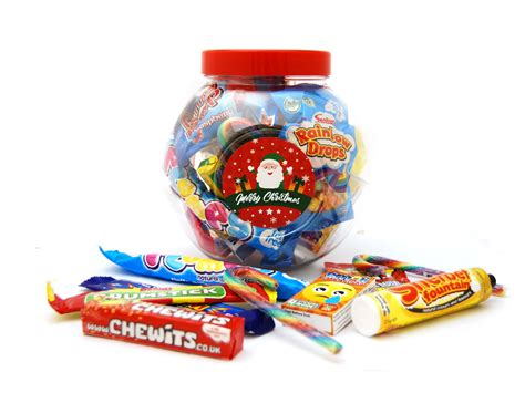 christmas personalised sweet jar large