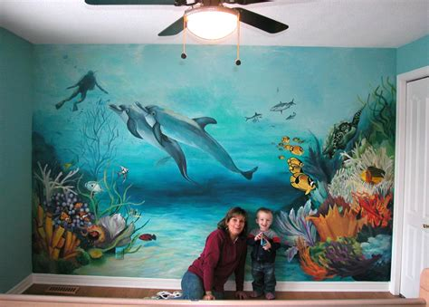 underwater wall mural underwater painted murals pictures to pin on pinsdaddy
