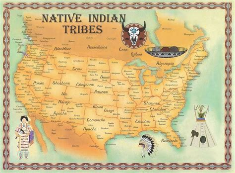 american tribes by map map of tribes americans
