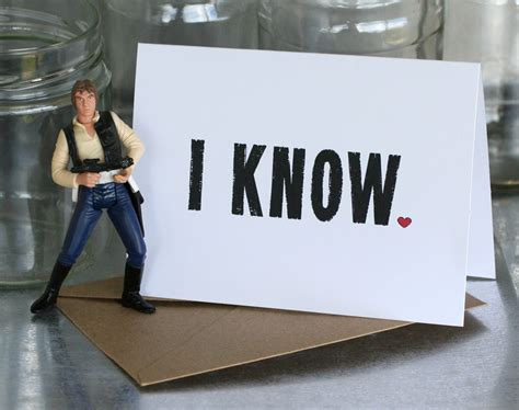 i know star wars card i know is star wars for i