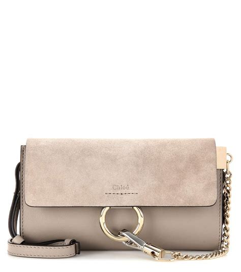 Wallet Bag by Mini Leather And Suede Wallet Bag Chlo 233 Mytheresa