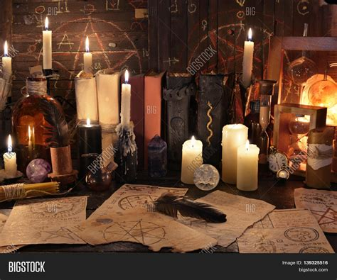 Halloween Decorations Mystic Halloween Blog   mystic still life with magic objects and candles