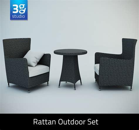 Zipper Sweater Outdoor Autodesk rattan outdoor set chairs 3d model