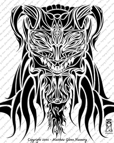 tribal demon tattoo tattoos and designs page 54