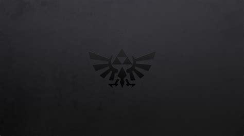 black and white zelda wallpaper zelda triforce dark nintendo logo hd wallpaper games