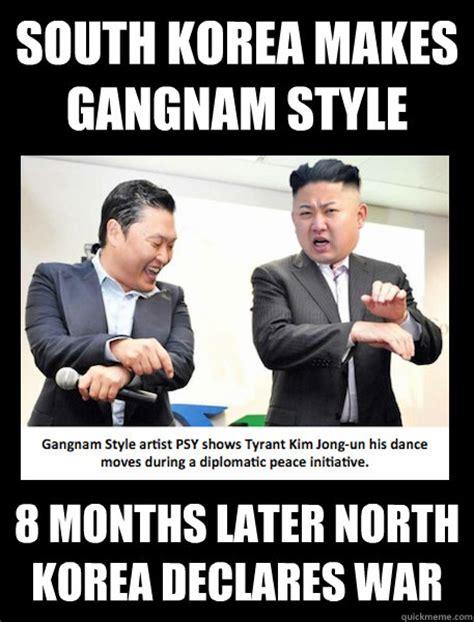 North Korea South Korea Meme - south korea makes gangnam style 8 months later north korea