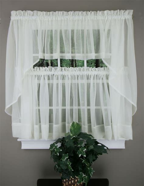 Swag Curtains Images Decor 1000 Images About Sheer Kitchen Curtains On Kitchen Swag And Gingham
