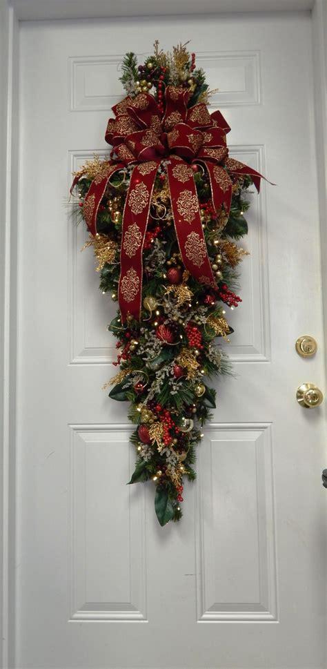 swag holiday decoration christmas swag large burgundy swag