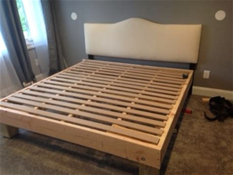 king sized deck diy bed frame  foundation