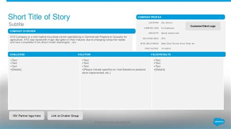 success story template customer success story template for appexchange partners