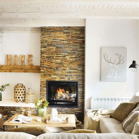 15 salones con chimenea para el invierno - Chimeneas De Salon