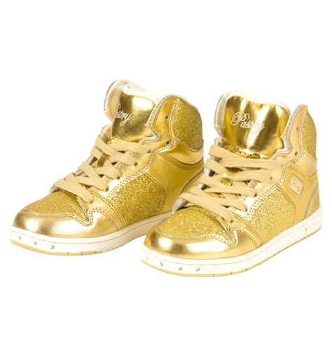 gold sneakers for toddlers quot glam pie quot glitter gold sneakers shoes discountdance